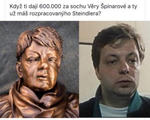 Ostravská rodačka Věra Špinarová a kritizovaná socha